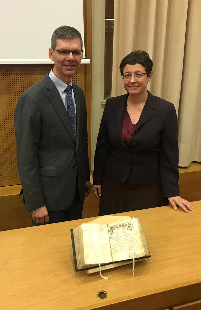 Dr. Jeffrey Kloha and Professor Theodora Antonopoulou